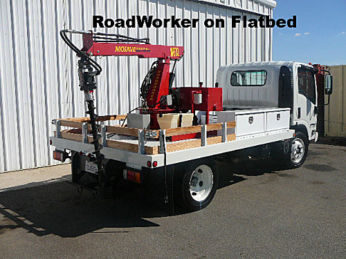RoadWorker on Flatbed